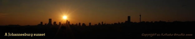 A Johannesburg sunset